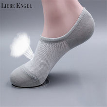 LIEBE ENGEL 3 Pairs Women Socks Solid Breathable Mesh Invisible Socks Non-slip Elastic Soft Short Ankle Sock Boat Meia(China)