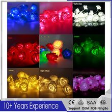 2017 Lover Garlands Holiday Lighting 2M 20 LED White Rose Flower Fairy String Lights Romantic Wedding Garden Party Home Decor