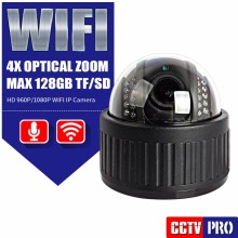 HD 960P 1080P Wireless Dome PTZ IP Camera Wifi Security CCTV Onvif 4X Zoom 2.8-12mm Lens Auto Focus Audio SD Card Night Vision