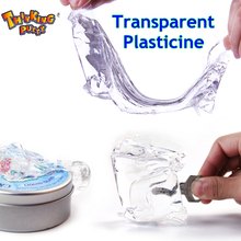 Intelligent Creative Hand Gum Transparent Bounce Plasticine Slime light Clay Adults Decompression Fimo Mud Doh Toys Kids Gift
