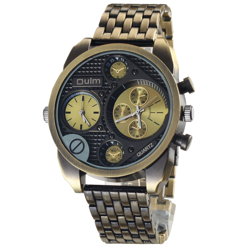 Brand Oulm Fashion Mens Sport Quartz Watches Men Full Steel Watch Antique Male Casual Clock Military Watch Relogio Masculino<br><br>Aliexpress