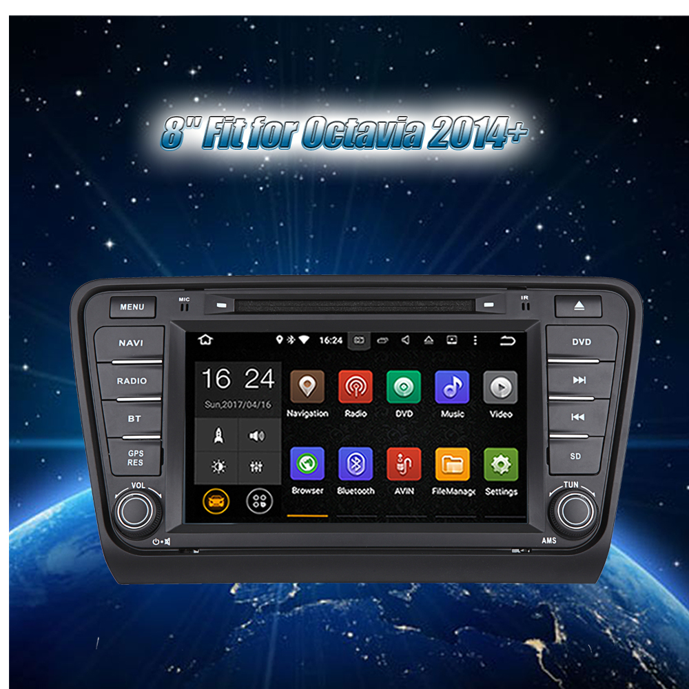 Krando 8'' Octavia 2014+ Android car radio gps navigation multimedia system