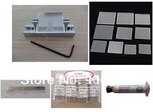 Free shipping reball station with 10 universal stencils and scraper solder balls plugs solder paste 5 in 1 bga reballing kit