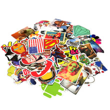 300 Different Mixed Fashion Cartoon Stickers For Laptop Skateboard Bicycle Suitcase Pvc Rock Design DIY Accessory Sticker