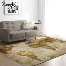 Zeegle World Map Pattern Large Size Carpets For Living Room Bedroom Home Decor Ding Room Office Chair Floor Mats Bedside Rugs(China)