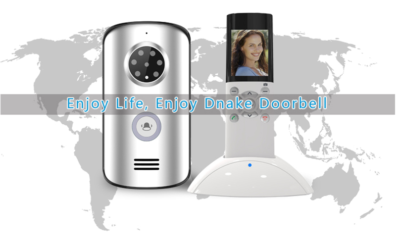 JERUAN 2.4G home wireless remote control video door phone doorbell intercom system waterproof infrared night vision camera