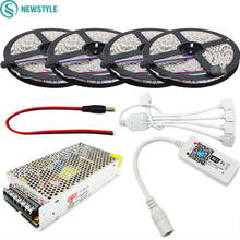 5M 10M 15M 20M RGB LED Strip 5050 SMD Flexible Light DC 12V 60Led/m Strip Lamp+Mini Led Controller+Power Adapter Supply(China)