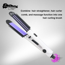 DODO Brand 2017 New Fast Hair Straightener Brush With Hair Iron Hair Curler Comb And Message 4 in 1 Multifunctional Styling Tool