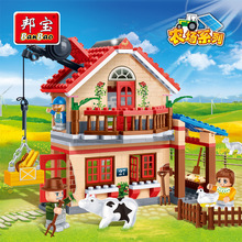 building block set compatible with lego new city Countryside Animal Farm 3D Construction Brick Educational Hobbies Toys for Kids