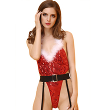 Buy Leechee Y117 Women sexy lingerie Christmas clothe temptation cosplay section tie polka dot sequuinerotic underwear porn costumes