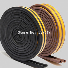 2Pcs/10m P Type Foam Seal Strip Rubber Seal for Door and Window Black/white/Brown