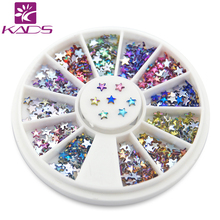 NEW AB 3mm Star Rainbow Color Acrylic Nail art Flat Back Rhinestone For Nail UV Gel Tips Cell Phone Decoration.600pcs wheel(China)
