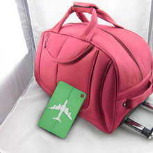 Metal Luggage Tag Aluminum Alloy Multi Colors Various Types Of Air Plane Travel Tags Identity Card Special