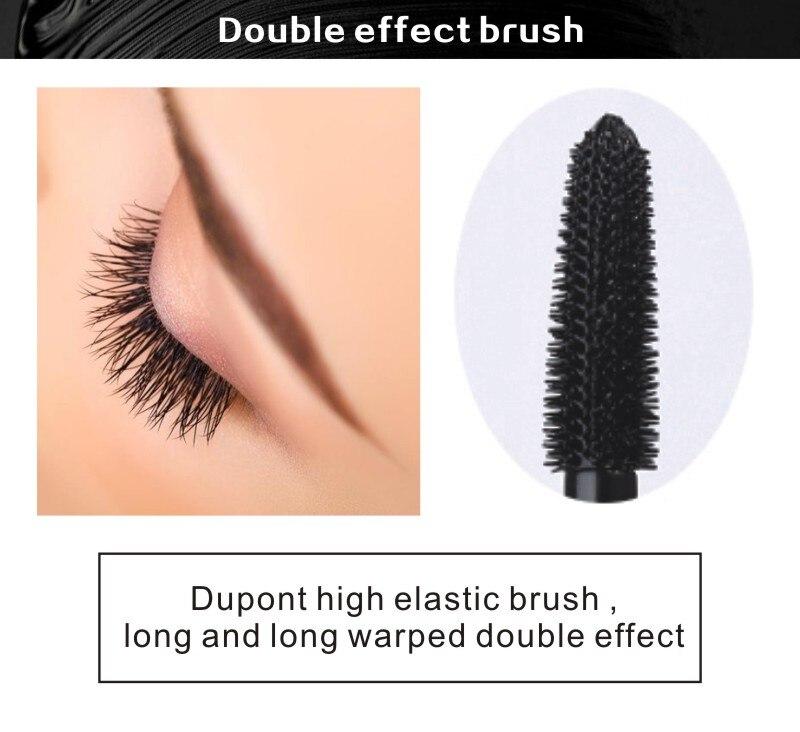 MRC Waterproof 3D Curling Mascara Long Black Volume Eyelashes Extension Brush Makeup Mascara (3)