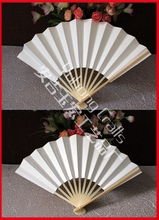 20pcs/lot Wholesale Japanese Style Bamboo Chopsticks Folding Paper Hand Fan Wedding/Party Decors' Fans