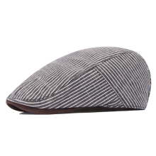 Summer check personality the trend of fashion all-match beret hat cap