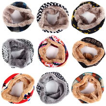 Cute Fashion Brand Children Winter Scarf For Baby Scarf Kid Thick Cotton Velvet O-Scarf Scarves Boy Girl Neck Bufandas Wholesale