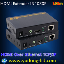 TCP/IP standard HDMI Network Networking HDMI Extender 150m Over Cat5/Cat6 Cable - Unlimited Extension Wholesale Free Shipping
