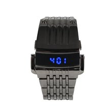 Men LED Digital Watch Electronic Watch G1232 Stainless Steel Wristwatches Trendy Sport Waterproof Watch Fashion Accessory Luxury
