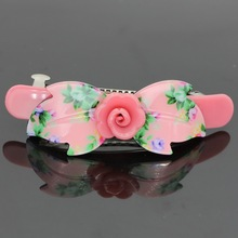 Size 90mm*28mm Floral spring hair clips , new 2017 Lady hairpins , Work loaded hair accessories,party hair ornaments