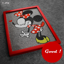 Diamond Painting Minnie Mouse Lovely Diy 5D Diamond Painting Minnie Mouse Full Embroidery Diamond Rhinestone 30*40cm Painting(China)