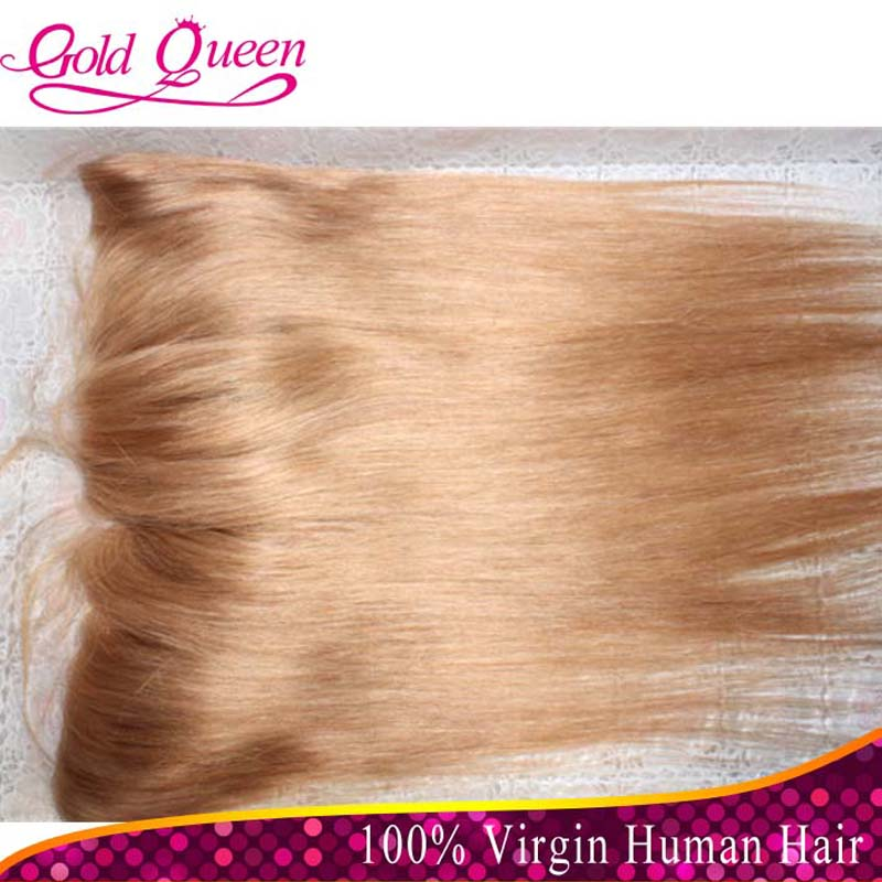 hot selling lace frontal 13x4 bleached knots virgin frontal straight 27# honey blonde brazilian hair full lace frontal sale<br><br>Aliexpress