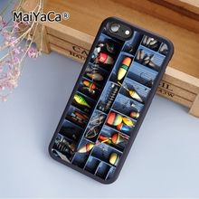 MaiYaCa Fishing Tackle Box Custom fashion soft mobile cell Phone Case Cover For iPhone 5 5S SE Custom DIY cases luxury shell(China)
