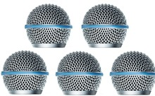 NEW 5 PACK Ball Head Mesh Microphone Grille Fits Shure SSM58,Beta58/Beta58A microphone