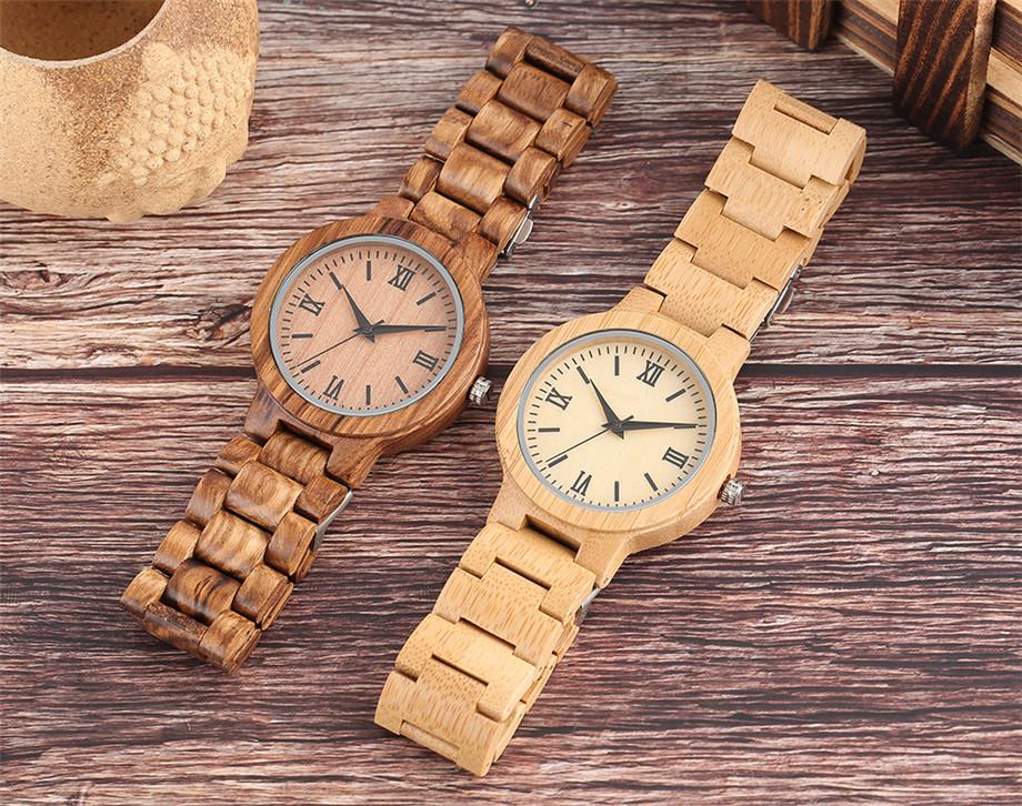 YISUYA Minimalist Full Wooden Watches Women Men Bamboo Wood Bracelet Fashion Creative Quartz Wristwatch Handmade Gifts Casual Clock Hour (1)