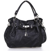 TFTP Girls PU Leather Hobo Handbag Bag Tote Shoulder Cross Body Black(China)