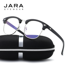 JARA Men Radiation Protection Rivet Frame Eyeglasses Women Anti Blue Ray Brand Classic Computer Glasses Antifatigue Goggles 3016