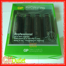 GP ReCyko+ Pro Professional 2000mAh AA 2016 New Version 1500 Times Rechargeable Battery with Free Gift