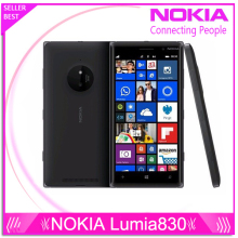 "Original Nokia Lumia 830 Cell Phone 16GB Quad Core 1.2GHz 5.0""Corning Gorilla Glass 3 Camera 10MP Windows Phone 8 Refurbished(China)"