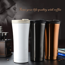 Hot Sale Double Wall Stainless Steel Coffee Tea Thermos Cup Mugs Thermal Bottle 500ml Thermocup Fashion Tumbler Vacuum Flask
