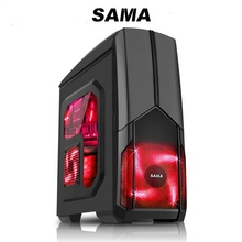 SAMA desktop computer case Support big power supply transparent large PC chassis line