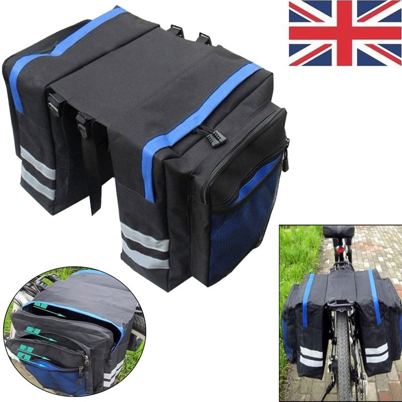 Blue Dacron Bike Back Shelf Bag Multi-Functions  Waterproof Cycling Rear Seat Bag Car Racks