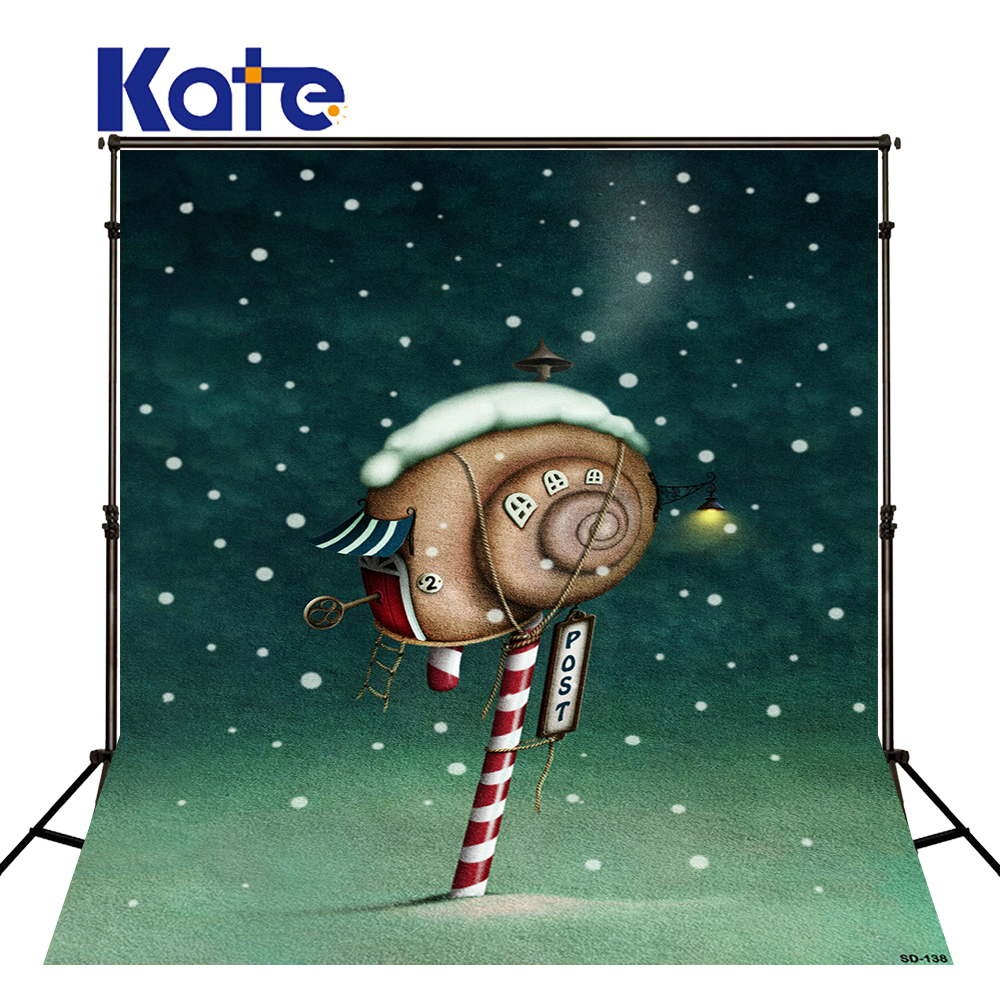150x220cm Kate Christmas Background Christmas Snow Snail Mail  Christmas Backdrops Photography Sd-138<br>