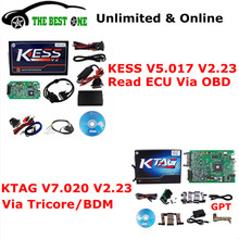 Unlimited Token Online V5.017 KESS V2 OBD2 Manager Tuning Kit + KTAG V7.020 K-TAG ECU Programming Tool KESS 5.017 K TAG 7.020(China)