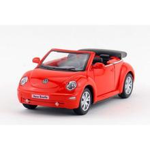 Children Kids 2003 Volkswagen New Beetle Convertible Model Car 1:32 KT5073 5inch Diecast Metal Alloy Cars Toy Gift(China)
