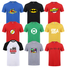 Sheldon Cooper Penny T shirts Men printed Short sleeve The Big Bang Theory T-shirt for men Cooper Logo T shirt men Tops