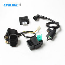 Ignition Coil + CDI UNIT + Rectifier Regulator + Solenoid Relay Fit 110cc 125cc 140cc PIT PRO Bike Dirt Bike Quad ATV Buggy(China)