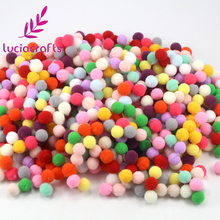 Lucia Crafts 288pcs/lot 10mm Multi Color Pompoms Soft Pom Poms Balls DIY Sewing Wedding Scrapbooking Decor Accessories 22010036(China)