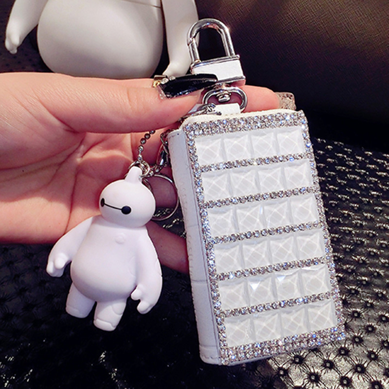 2017 Real Interior Key Chain Holder Zipper Women Solid The New Key Buckle Diamond Ladies Leather Bag General Car Sets Of Tide<br><br>Aliexpress