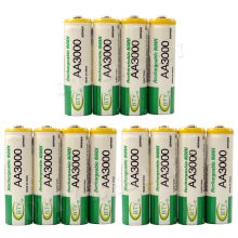 Dolidada 12pcs 100% New Really  Brand High Perfomance Promotion 1.2V 3000mAh Rechargeable AA Battery,Free Shipping