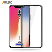 VRURC 9H Tempered Galss For iPhone X 5D Full Screen No Notch Screen Protector For iPhone 10 Glass Film Anti Dust Premium Glass(China)