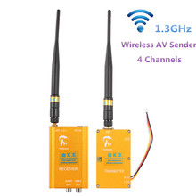 1.3GHz 6000mW Wireless Transceiver Audio Video Transmitter Receiver System AV Sender Anti Interference 800m Distance 4 Channels