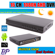 New Products 16CH AHD DVR For 720P 960P 1080P AHD CCTV Camera 16 Channel ONVIF IP NVR Network H.264 Recorder Surveillance