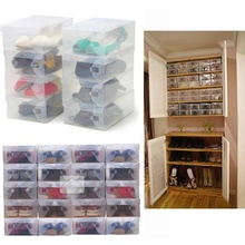 Shoe Storage Box Shoebox Case Home Household Organizer Decors 5 Colors