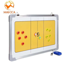 MAICCA New Volleyball Tactical plate Coaching Board Magnetic Coach book with pen and eraser tactics Volleyball Coach Clipboard