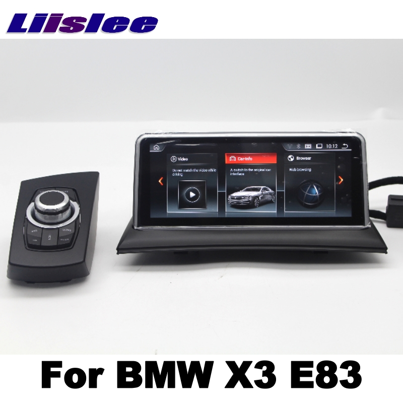 LiisLee For BMW X3 E83 2003~2010 Car Multimedia GPS Map 10.25Android Audio Hi-Fi Radio Stereo Original Style Navigation NAVI 3